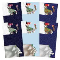 Festive Moments - Set the Scene Z-Fold Card Blanks - Christmas Town