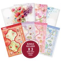 Paintdrop Florals Burst Open Concept Cards