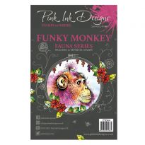 Pink Ink Designs A5 Clear Stamp - Funky Monkey
