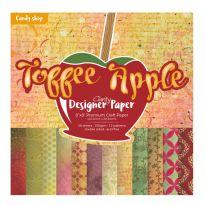 "Toffee Apple 8"" x 8"" Clarity Designer Paper"