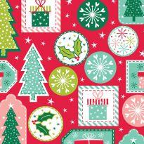 Stuart Hillard's Nutcracker Fabrics - Gift Tags on Red