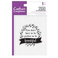 CC - Clear Acrylic Stamps - Be Beautiful