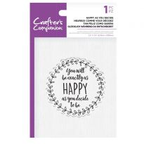 CC - Clear Acrylic Stamps - Happy as you Decide