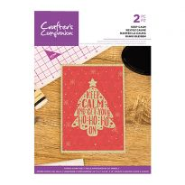 Clear Acrylic Christmas Quirky Sentiment Stamps - Keep Calm