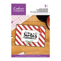 Clear Acrylic Christmas Quirky Sentiment Stamps - Santa's Favourite