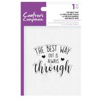 CC - Clear Acrylic Stamps - The Best Way