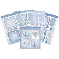 True Blue Fancy Edge Easel Card
