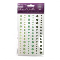 Diamond Sparkles Gemstones - Green Shimmer