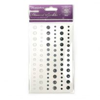 Diamond Sparkles Gemstones - Monochrome Shimmer