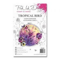 Pink Ink Designs A5 Clear Stamp - Tropical Bird