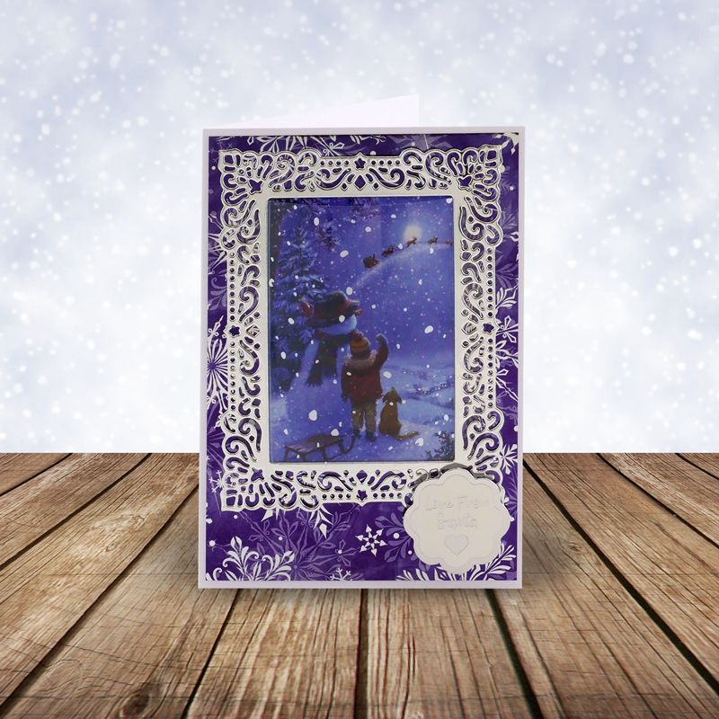 DECK008 54 x 250gsm Cards Hunkydory TWAS THE NIGHT Topper Decks 18 Designs