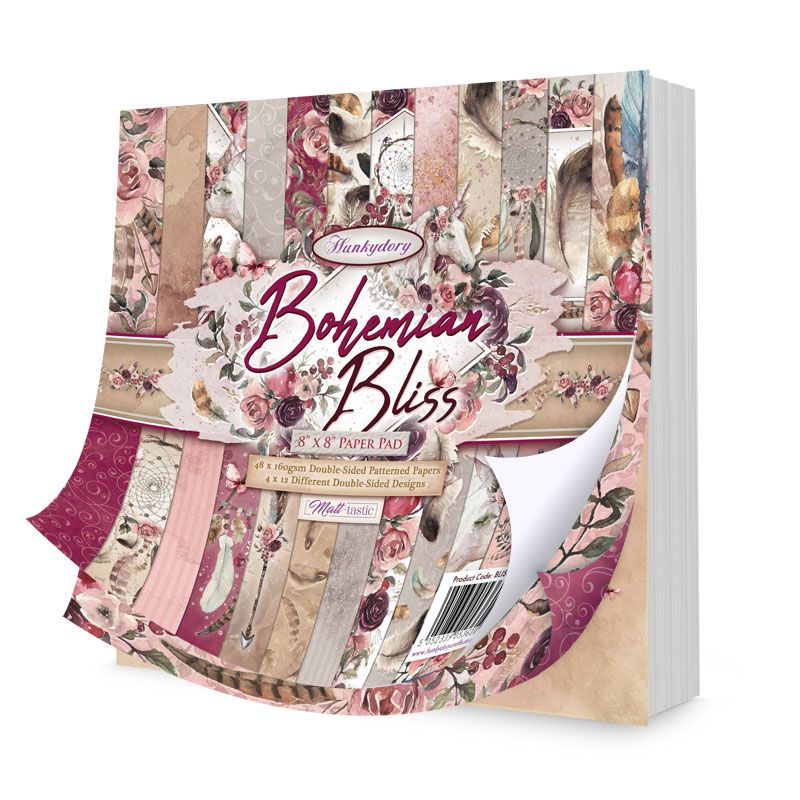 Bohemian Bliss 8 x 8 Paper Pad BLISS103 Hunkydory