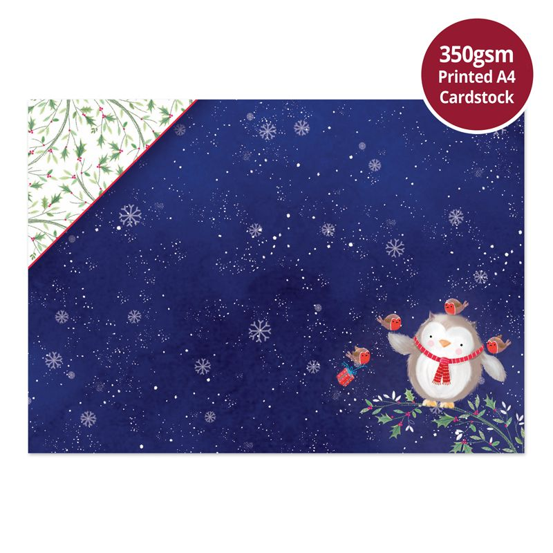 Owl be Home for Christmas Luxury Topper Set Hunkydory CUTE19-908