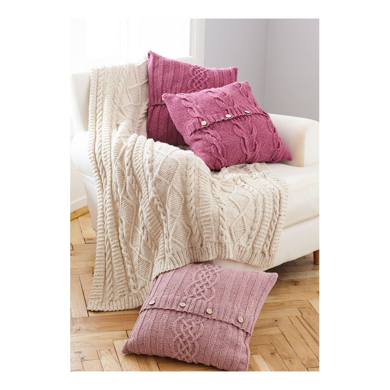 Pattern Throw Cushion Covers Knit Hunkydory Crafts