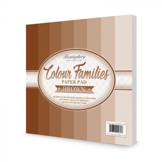 Colour Families Paper Pad - Brown