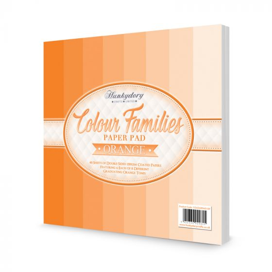 Colour Families Paper Pad - Orange