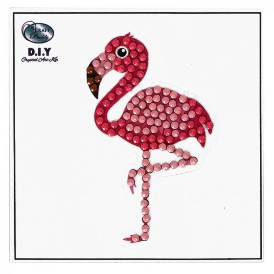 Crystal Art Motif Kit - Flamingo