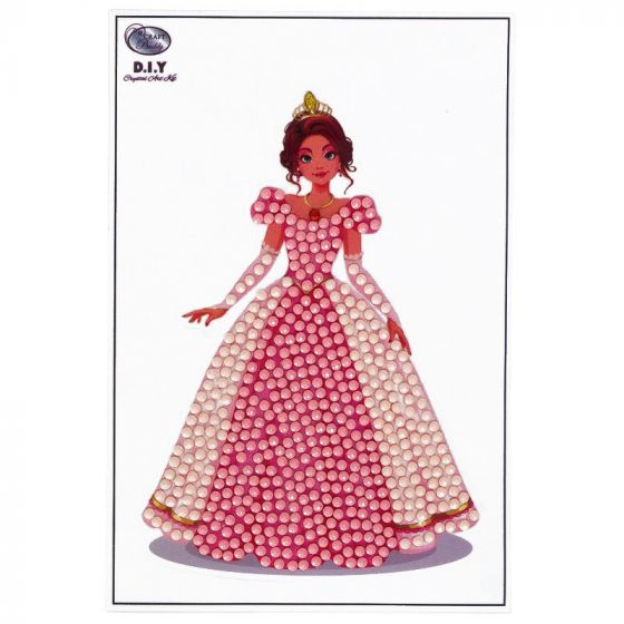Crystal Art Motif Kit - Pink Princess