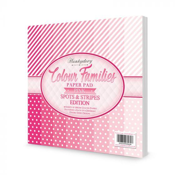Colour Families Spots & Stripes Paper Pad - Pink