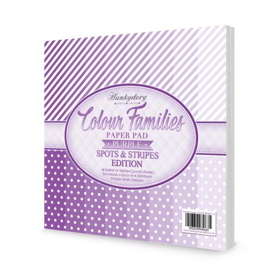 Colour Families Spots & Stripes Paper Pad - Purple
