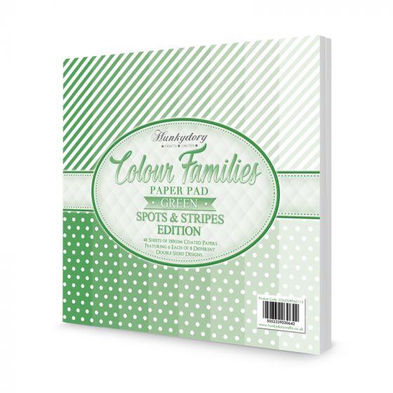 Colour Families Spots & Stripes Paper Pad - Green