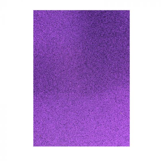 Glitter Card - Purple x 5 sheets