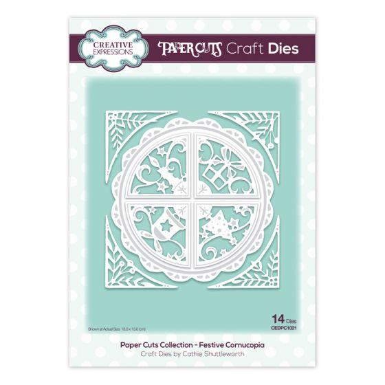 Paper Cuts Collection - Festive Cornucopia Craft Die