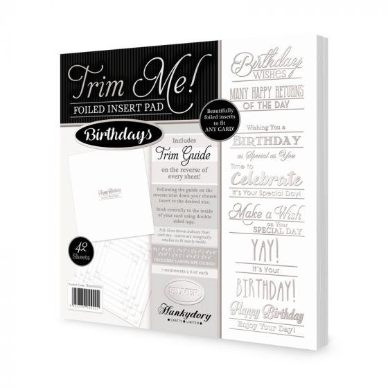 Trim Me! Foiled Insert Pad - Birthdays Silver