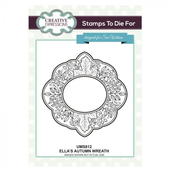 Stamps to Die For - Ella's Autumn Wreath Stamp