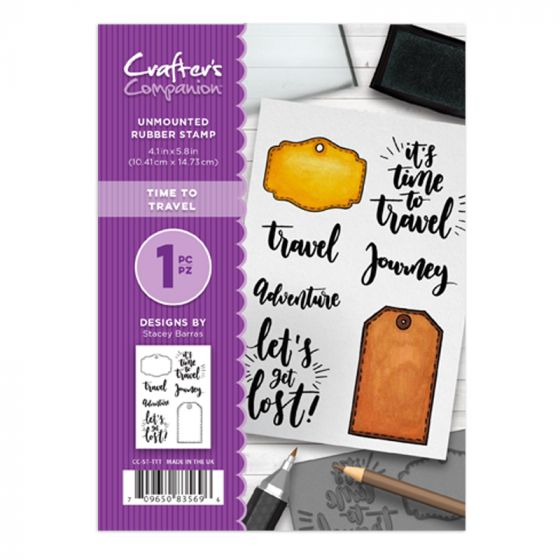 CC - A6 Rubber Stamp - Time to Travel