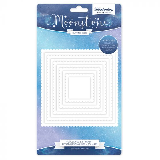 Moonstone Nesting Dies - Scalloped & Straight Edged Nesting Dies - Squares