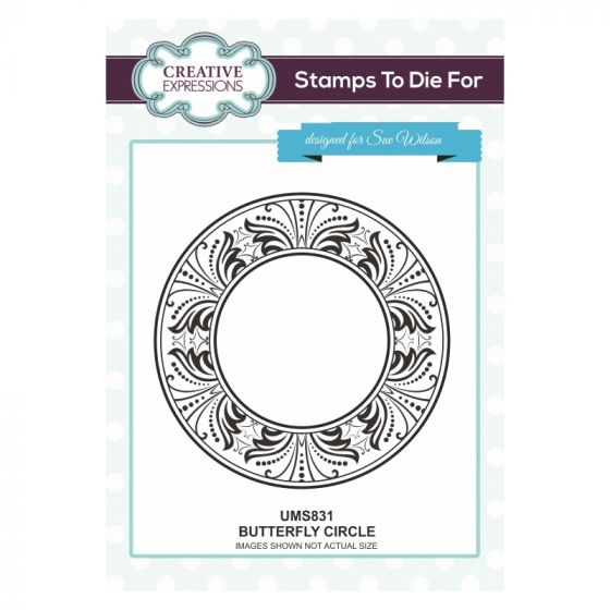 Stamps To Die For Butterfly Circle Pre Cut Stamp