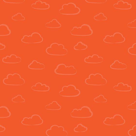 Stuart Hillard - Rainbow Etchings - Cloud on Orange