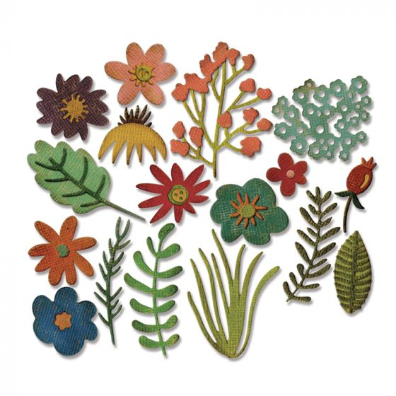 Sizzix Thinlits Die - Funky Floral by Tim Holtz