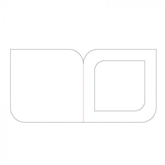 "4""x4"" Miniature Corner Rounder Aperture Card Blanks"