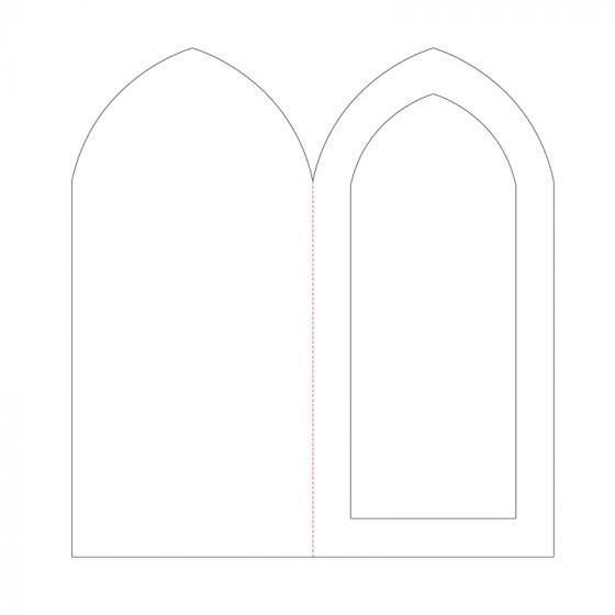"Pointed Arch Aperture Card Blanks - 8 1/4"" x 4"""