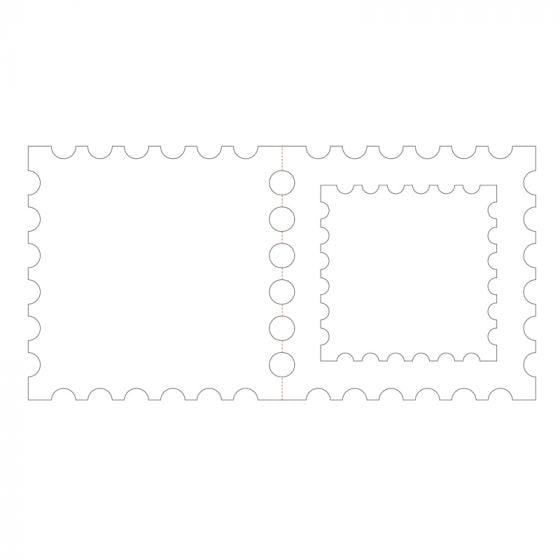 "Postage Stamp Aperture Card Blanks - 6"" x 6"""
