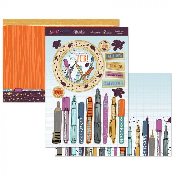 Time for New Stationery Topper Set
