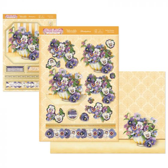 Floral Wishes Designer Deco-Large - Perfect Pansies