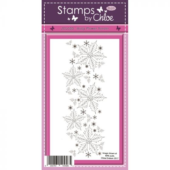 Stamps by Chloe - Holly Flower Border