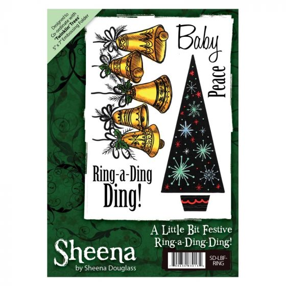 Sheena A6 Xmas Stamp - Ring-a-Ding-Ding!