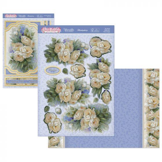 Floral Wishes Designer Deco-Large - Tea Rose Reflection