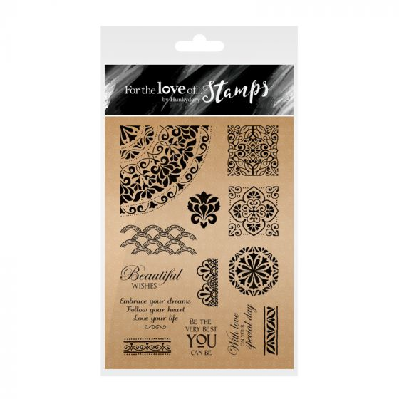 For the Love of Stamps: Rose Gold Collection - Baroque Backgrounds