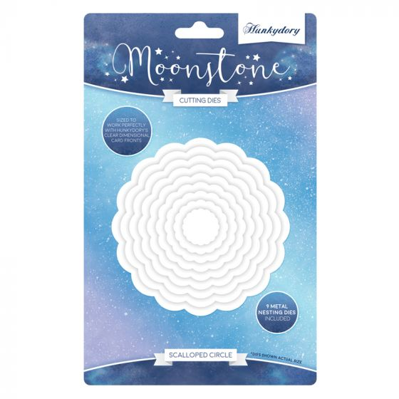 Moonstone Nesting Dies - Scalloped Circle