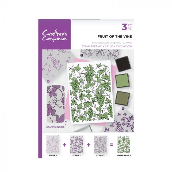 CC - A6 Background Layering Stamps - Fruit of the Vine x 3 stamps