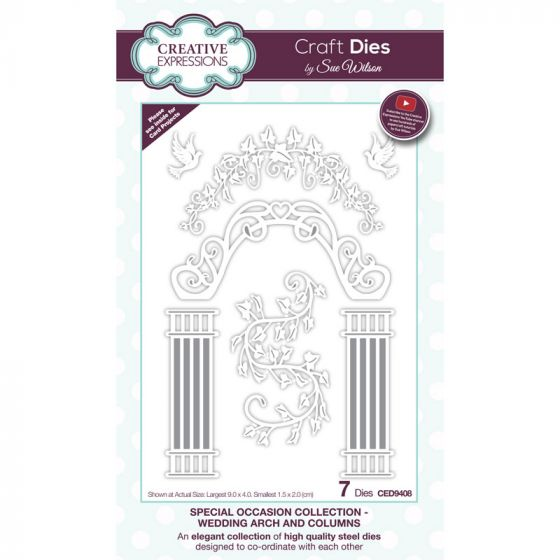 Special Occasions Collection Wedding Arch and Columns x 7 dies