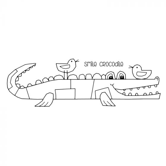 Woodware Clear Stamp - Smile Crocodile
