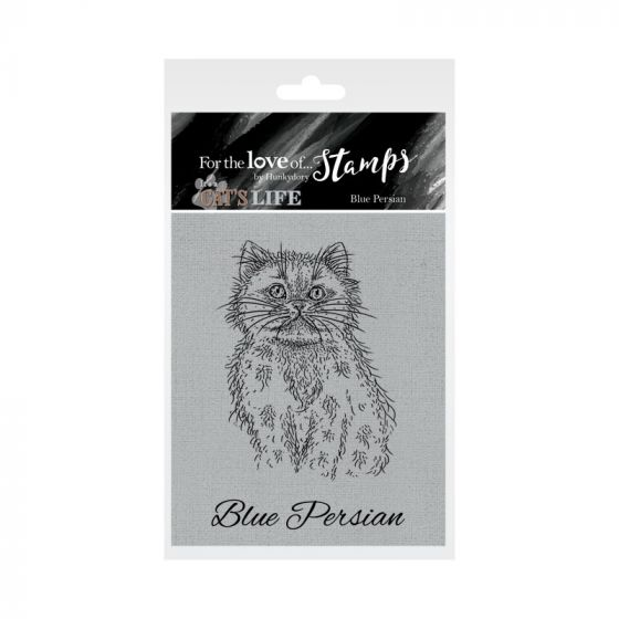 It's A Cat's Life Clear Stamp - Blue Persian