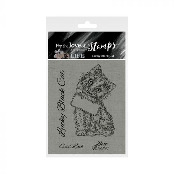 It's A Cat's Life Clear Stamp - Lucky Black Cat