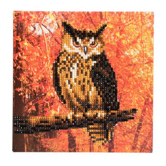 Crystal Card Kit - Autumn Owl